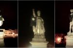 I goliardi vestono le statue di Prato della Valle